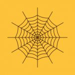 The spiderweb icon. Web symbol. Flat Vector illustration